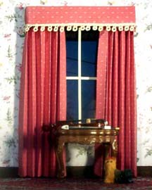 burgundy paper curtains