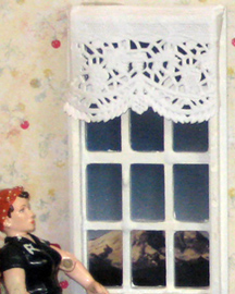 paper doily curtains