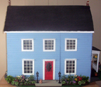 blue dollhouse