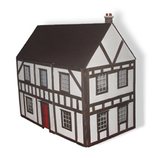 stucco dollhouse
